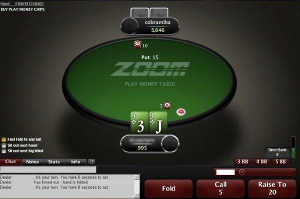 зум столы для хедзап на покер старс