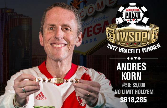 Андрес Корн выиграл $5000 NLHE Event WSOP 2017