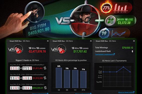встроенный клиентским Smart HUD в руме PokerOK